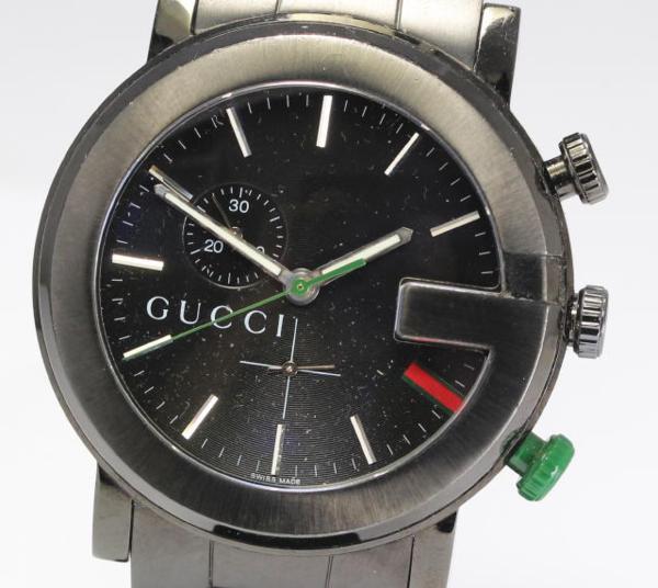 【GUCCI】グッチ 101M chrono QZ ブラック メンズ腕時計☆【】 ●ブランド腕時計専門店CLOSER!15時までの決済で即日発送可能★新生活にブランド腕時計はいかがでしょうか。是非ご利用下さいませ!