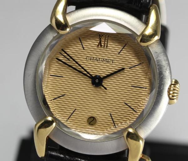 【ショーメ】 グリフィス コンビ クォーツ 革ベルト レディース【】 ●ブランド腕時計専門店CLOSER!15時までの決済で即日発送可能★新生活にブランド腕時計はいかがでしょうか。是非ご利用下さいませ!