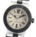 ブルガリ アルミニウム AL32A ラバー QZ レディース腕時計 訳有【中古】