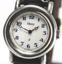 【OBREY】オブレイ ラウンド SV925 銀無垢 クォーツ 腕時計【中古】