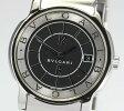 【BVLGARI】ブルガリ ソロテンポ ST35S 黒文字盤 SSブレス QZ◎【中古】