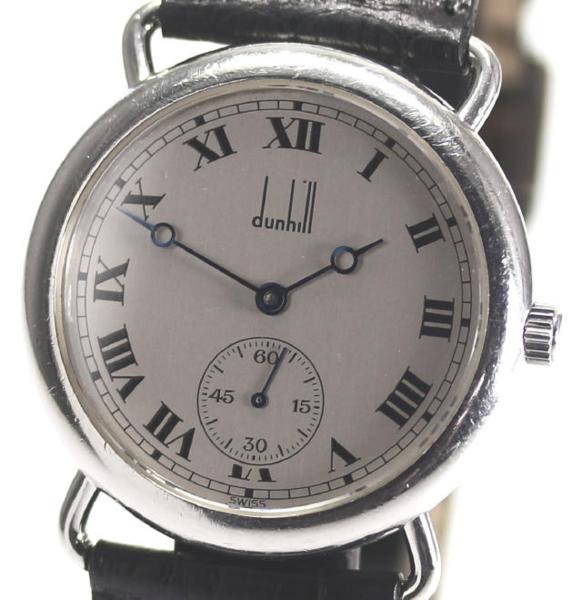 【dunhill】ダンヒル ラウンド スモセコ cal.7001手巻 革 メンズ【】 ●ブランド腕時計専門店CLOSER!15時までの決済で即日発送可能です★在庫数大幅増加中!早い者勝ち☆是非ご利用下さいませ★