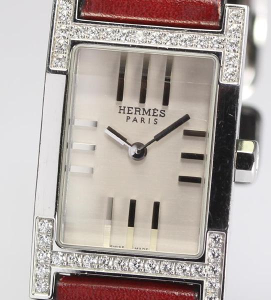 【エルメス】タンデム TA1.230 ダイヤ QZ 革 レディース☆【】 ●ブランド腕時計専門店CLOSER!15時までの決済で即日発送可能★新生活にブランド腕時計はいかがでしょうか。是非ご利用下さいませ!