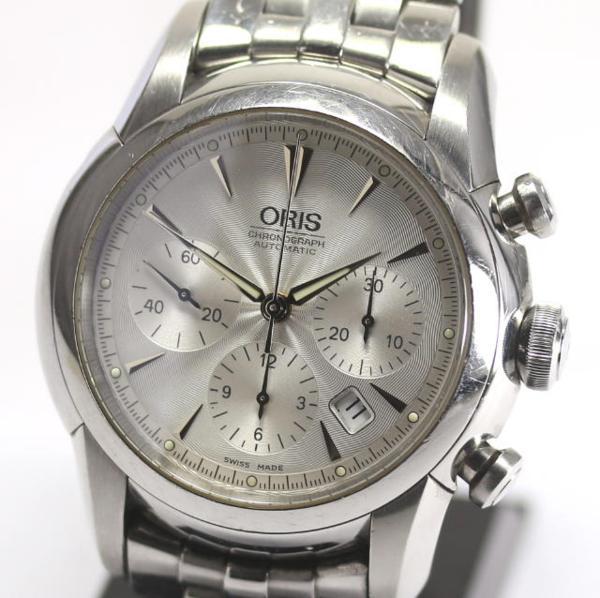 訳あり オリス アートリエ クロノグラフ 7547 自動巻き メンズ【】 ●ブランド腕時計専門店CLOSER!15時までの決済で即日発送可能★新生活にブランド腕時計はいかがでしょうか。是非ご利用下さいませ!