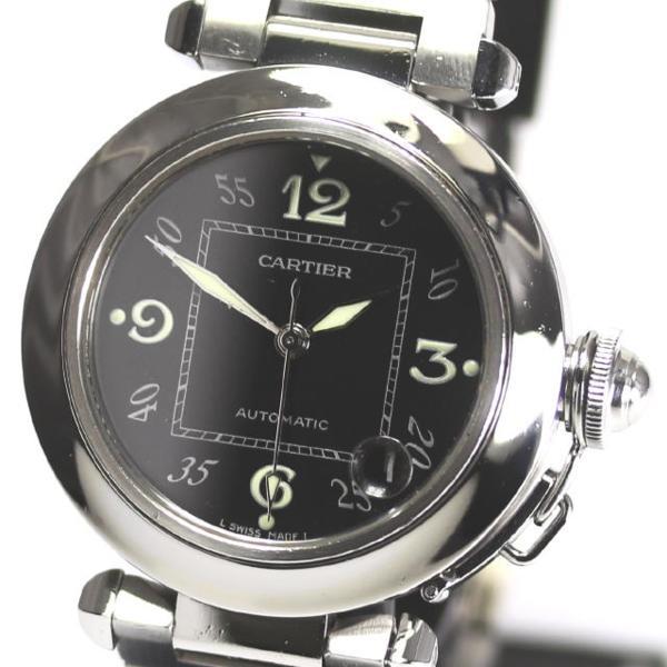 カルティエ パシャC W31043M7 AT ボーイズ ブラック文字盤 SS☆【】 ●ブランド腕時計専門店CLOSER!15時までの決済で即日発送可能です★在庫数大幅増加中!早い者勝ち☆是非ご利用下さいませ★