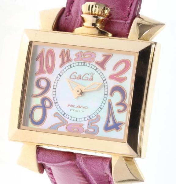 【2月14日価格改定!】ガガミラノ ナポレオーネ 6031.1 K18PVD シェル QZ レディース【】 ●ブランド腕時計専門店CLOSER!15時までの決済で即日発送可能です★在庫数大幅増加中!早い者勝ち☆是非ご利用下さいませ★