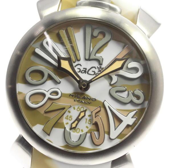 【2月14日価格改定!】箱保 ガガミラノ マヌアーレ48 5010.175 手巻き メンズ ラバー 【】 ●ブランド腕時計専門店CLOSER!15時までの決済で即日発送可能★新生活にブランド腕時計はいかがでしょうか。是非ご利用下さいませ!