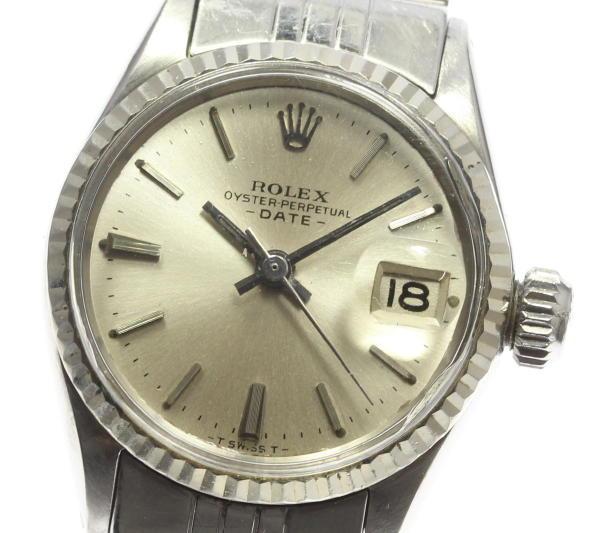 ロレックス オイスターパーペチュアル 6517 cal.1161 デイト QZ【】 ●ブランド腕時計専門店CLOSER!15時までの決済で即日発送可能です★在庫数大幅増加中!早い者勝ち☆是非ご利用下さいませ★