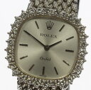 ☆訳有品 【ROLEX】ロレックス オーキッド K18WG ダイヤベゼル 自動巻き レディース アンティーク腕時計【中古】