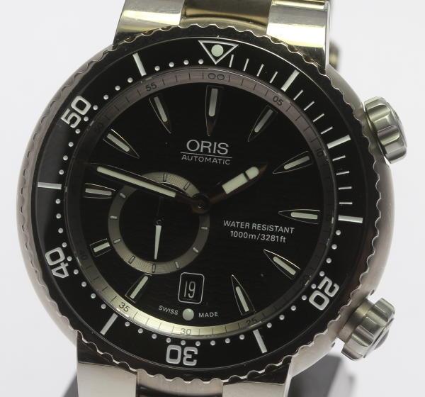 【3月20日価格改定!】【ORIS】 オリス TT1 7638-74 自動巻き チタン 1000M防水 メンズ ダイバーウォッチ ★【】 ●ブランド腕時計専門店CLOSER!15時までの決済で即日発送可能★新生活にブランド腕時計はいかがでしょうか。是非ご利用下さいませ!