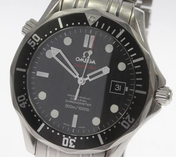 ※ジャンク品 オメガ 212.30.41.20.01.002 シーマスタープロフェッショナル 300M SS 自動巻き ブラック メンズ☆ 【】 ●ブランド腕時計専門店CLOSER!15時までの決済で即日発送可能★新生活にブランド腕時計はいかがでしょうか。是非ご利用下さいませ!新しいです