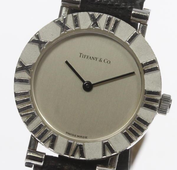 ティファニー アトラス ラウンド L0640 SV925 QZ 革 レディース【】 ●ブランド腕時計専門店CLOSER!15時までの決済で即日発送可能★新生活にブランド腕時計はいかがでしょうか。是非ご利用下さいませ!【古い】