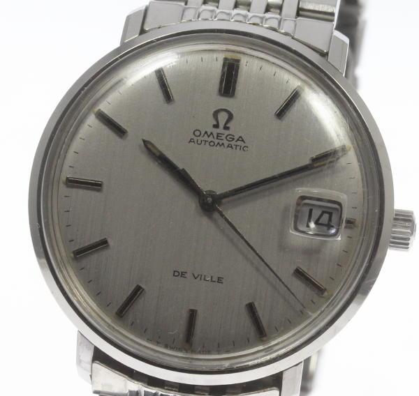 【オメガ】 アンティーク デビル デイト メンズ 自動巻き SSブレス☆【】 ●ブランド腕時計専門店CLOSER!15時までの決済で即日発送可能★新生活にブランド腕時計はいかがでしょうか。是非ご利用下さいませ!