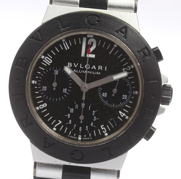 箱付 【BVLGARI】ブルガリ アルミニウム クロノグラフ AC38TA 自動巻き メンズ【】 ●ブランド腕時計専門店CLOSER!15時までの決済で即日発送可能★新生活にブランド腕時計はいかがでしょうか。是非ご利用下さいませ!うまい