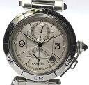 ※訳有【CARTIER】カルティエ パシャ38mm GMT パワーリザーブ W31037H3 自動巻き メンズ【中古】