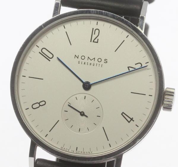 NOMOS ノモス  スモセコ 手巻き 裏スケ 革ベルト メンズ腕時計 箱・保 ◆【】 ●ブランド腕時計専門店CLOSER!15時までの決済で即日発送可能★新生活にブランド腕時計はいかがでしょうか。是非ご利用下さいませ!