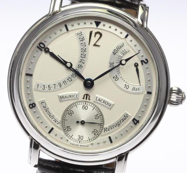 【MauriceLacroix】モーリスラクロア MP6198 レトログラード 手巻き 純正革ベルト メンズ【】 ●ブランド腕時計専門店CLOSER!15時までの決済で即日発送可能★新生活にブランド腕時計はいかがでしょうか。是非ご利用下さいませ!