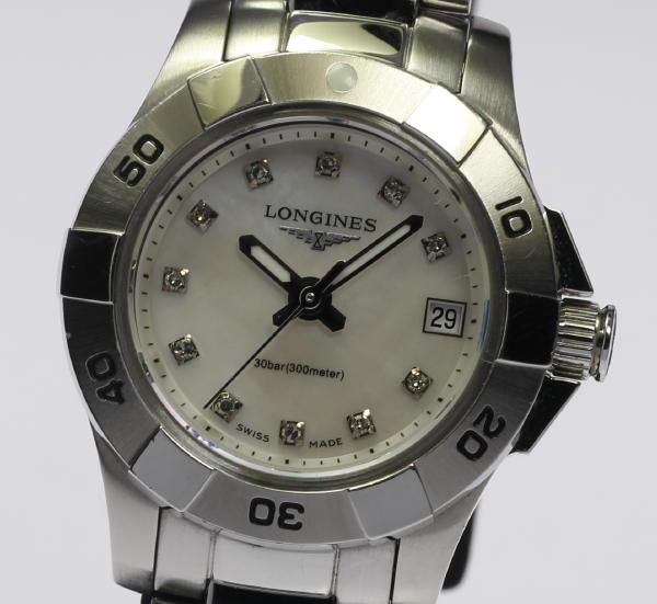 【LONGINES】ロンジン コンクエスト L3.198.4 シェル 11Pダイヤ QZ レディース【】 ●ブランド腕時計専門店CLOSER!15時までの決済で即日発送可能★新生活にブランド腕時計はいかがでしょうか。是非ご利用下さいませ!