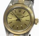 保証書付 ロレックス オイスター パーペチュアル 6719 Cal.2030 自動巻き アンティーク レディース腕時計