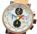 訳有 アランシルベスタイン クロノ バウハウス グミ クロノグラフ 自動巻き メンズ 腕時計【中古】【170617】