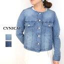 【送料無料】CYNICAL(シニカル)ライトオンスノーカラーデニムジャケット91294007(デニム ジャケット インディゴ レディース)