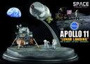 DRAGON NASA アポロ11号 CSM (司令船/機械船)&月着陸船 w/月面ベース (1/72スケール 塗装済完成品) プラッツ