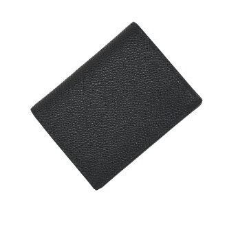 把 THOM BROWNE Thom MAW021L/001 雙卡持有人小牛皮皮革小黑人男性的 / 卡 / 制卡 / 禮品 02P03Dec16