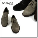 BOEMOS (ボエモス) l3-4010 メンズ スエード プレーントゥ シューズ ダークブラウン 本革 イタリア製 革靴 紳士靴 【送料無料 NERO/T.MORO/KARIBU/DATE/NAVY ボエモス I3-4010 VIVEL