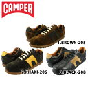 カンペール CAMPER PEROTAS ARIEL BROWN-205/KHAKI-206/BLACK-208 16454-208/16454-206/16454-208[co-3]