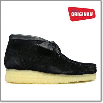 男子克拉克的CLARKS 35409 WALLABEE BOOT BLACK SUEDE大小克拉克的小袋鼠長筒皮靴黑色反毛皮革Clarks 35409