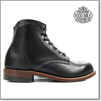 Wolverine WOLVERINE 1000MILE BOOTS W05300 BLACK Wolverine 1,000 mile boot W05300 black Vibram sole グッドイヤーウェルト method ◆