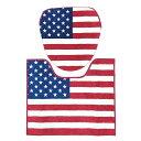 ウォシュレット用 トイレカバー&マットセット <U.S.フラッグ (アメリカ国旗 )> アメリカ雑貨 アメリカン雑貨