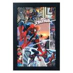 フレームアート スパイダーマン No.212404 H48×W32.6cm 額縁付きアート 映画グッズ マーヴェル 壁面インテリア ポスター アメリカ雑貨
