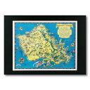 ハワイアンポスター MAPシリーズ <Island of OAHU> D-13 アメリカ雑貨 アメリカン雑貨