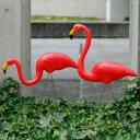 PINK FLAMINGOS 50年代アメリカンなピンクフラミンゴのオブジェ2体セット 【50's/ガーデニング/エクステリア/装飾/アメリカン雑貨/アメ…