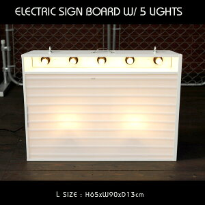 エレクトリックサインボード w/ライト Lサイズ(ホワイト)高さ65×幅90cm 【メニューボード、店舗看板、カフェインテリア、ア・・・