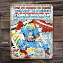 メタルサイン 「キャプテンアメリカ(カバー)」 #1970 /Captain America/ブリキ看板/アメコミ/
