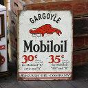 ブリキ看板 MOBIL モービル ガーゴイル さび風デザイン #1897 アメリカ雑貨 アメリカン雑貨