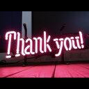 【送料無料】アメリカンネオンサイン <THANK YOU/サンキュー>サイズ:13×38cm /ネオン管/ガレージング/アメリカン雑貨/