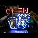 【送料無料】ネオンサイン /OPEN BEER オープン ビール