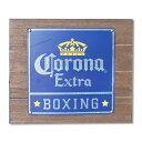 看板 木製 コロナエクストラ ウッドボックスサイン BOXING #213690 ブリキ看板 縦30.2×横35.5×厚さ4cm インテリア アメリカ雑貨