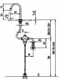 ##INAX LIXIL 【LF-43U】足踏式手洗い水栓