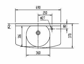 『カード対応OK!』###INAX LIXIL 洗面器【L-275AN-H】カウンター一体型洗面器(オーバーフローなし)壁給水・壁排水(Pトラップ) 受注3週間:クローバー資材館 オンライン ☆☆L 275AN H