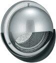■バクマ工業【KN-125MA】丸型フード付メッシュ換気口 水切り付タイプ