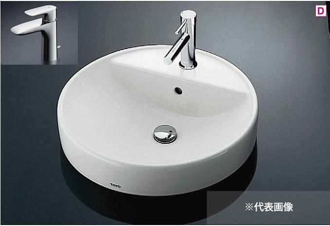 ###TOTO カウンター式洗面器 セット品番【L700C+TLG04302J】ベッセル式 台付シングル混合水栓(エコシングル) 床排水金具(Sトラップ) ☆☆L700CTLG04302J
