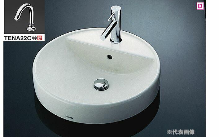 『カード対応OK!』###TOTO カウンター式洗面器 セット品番【L700C+TENA22C】丸型洗面器 ベッセル式 台付自動水栓(サーモ) 壁排水金具(Pトラップ) ☆☆L700C TENA22C品質第一、ユーザー第一