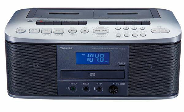 『カード対応OK!』ω東芝 オーディオ【TY-CDW88(S)】(シルバー) CDラジオカセットレコーダー