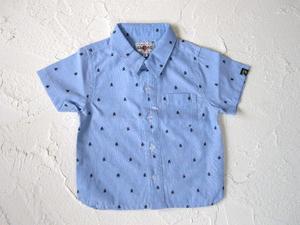 ●GASBAG【ガスバッグ】スカル刺繍シャツ【ブルー】31-200