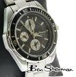 ベンシャーマン Ben Sherman ブラック クロノグラフ 腕時計 メンズ 【送料無料】 モッズ ファッション アナログ腕時計 ウォッチ ステンレス スチール ベルト アナログ 腕 時計 UK モッズ r287 ギフト