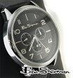 ベンシャーマン Ben Sherman クロノグラフ ブラックサークル フェイス 腕時計 【送料無料】 モッズ メンズ ファッション 黒 ウォッチ アナログ腕時計 本革レザーベルト UKモッズ BenSherman r562 ギフト